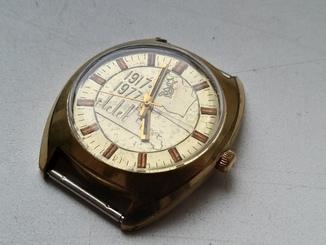 Часы Полет ,,60 лет Революции,, Au10