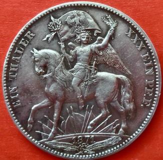 1 Талер 1871 год, Германия,  Саксония