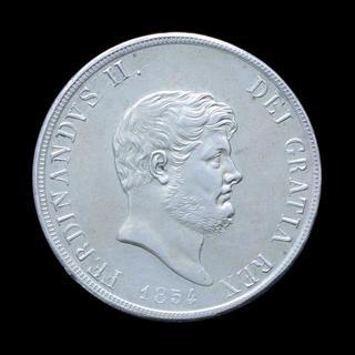 120 Грана 1854 Фердинанд II, Сардиния / Италия aUNC