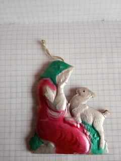 Новогодняя игрушка бабушка і оленьонок