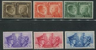 1941 Италия Гитлер и Муссолини полная серия MNH