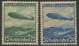1936 Рейх полная серия авиапочта дирижабли