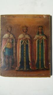 Икона с.б.к. Александръ Невск , с.царь Константинъ, с.царевна Елена