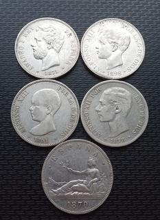 5 монет Іспанії