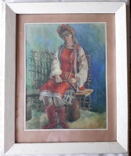 Девушка в Украинском Наряде, 62 см х 50 см