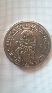Талер 1618 р. Австрія, ерцгерцог Максиміліан