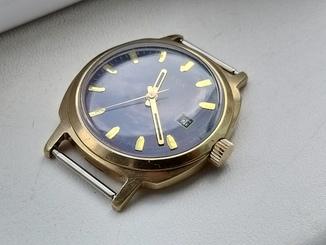 Часы Слава Au20 cиний циферблат