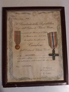Золотая медаль и орден Первая мировая война, Италия, 50 лет 1918-1968