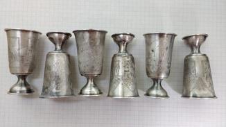 Серебряные рюмки (Набор 6 штук)