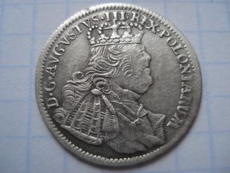 6 грош 1755р. Август ІІІ Фрідріх. Лейпціг