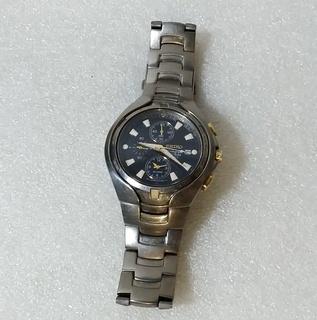 Часы Seiko. Хронограф Chronograph Titanium. Титан. Japan Япония.
