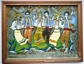 Народный танец (горячая эмаль) авторская работа(художник Чакир)