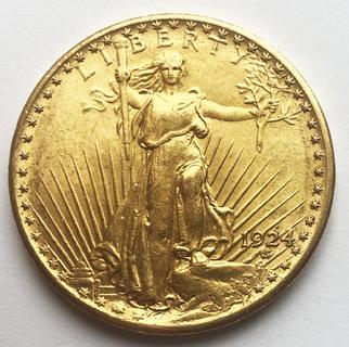 20 долларов 1924 года. UNC.