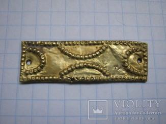 Гунская культура, золотая накладка на металлической основе