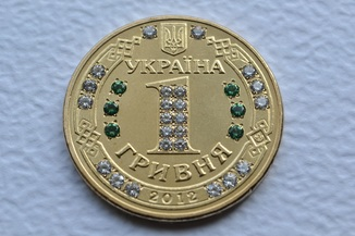 Монета с камнями сувенирная
