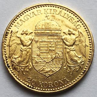 20 корон 1892 года. aUNC.