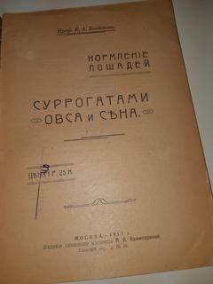1917 Кормление лошадей