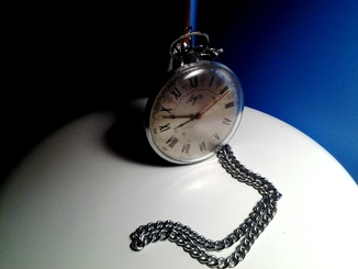 Часы карманные Луч тонкие, на ходу