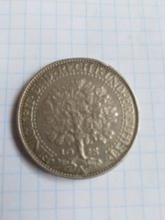 5 марок. Дуб. Германия. 1928. А Эйхбаум. Серебро.