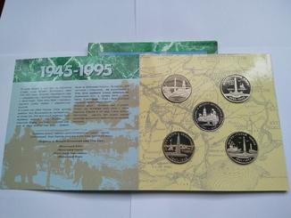 50 лет победы в ВОВ, набор 1995 года (города герои)
