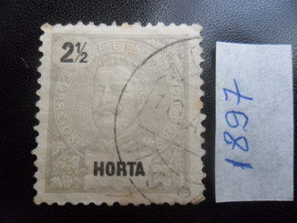 Колонии Португалии. Хорта. 1897 г.  гаш