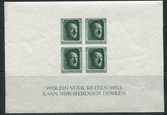 1937 Рейх Гитлер блок 8