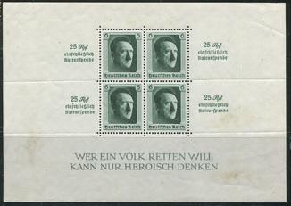 1937 Рейх Гитлер блок 9