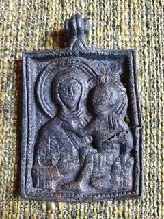 Богородица Одигитрия (Путеводительница) - Андреевский крест. XI-XIIвв.