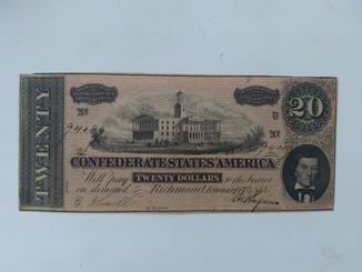 20 долларов 1864, Конфедерация