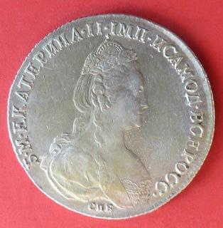 Рубль Екатерины II, 1782 из,СПБ, с фотографиями гурта