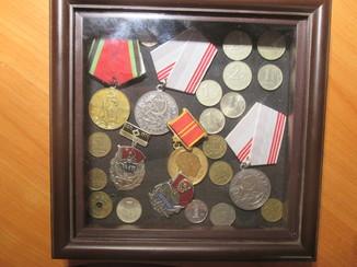 Набор медалей и монет СССР в коробке