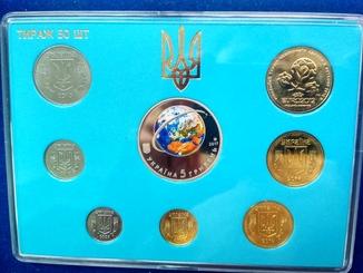 Набор обиходных монет Украины, Тираж 50 шт. В наборе 2 коп 2016 года