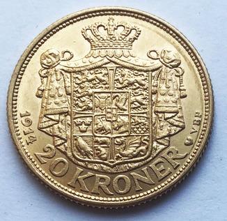 20 крон 1914 года. Дания.