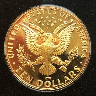 10 долларов 1984 года. США. Пруф-идеал.