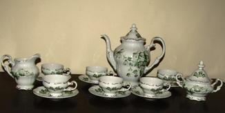 Сервиз чашки блюдца  кофейник сахарница молочник фарфор клеймо Weimar Веймар  Германия