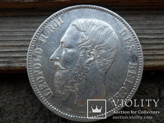Бельгия, 5 франков 1873