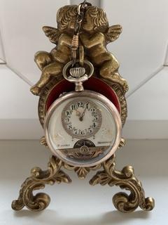 Часы Карманные с цепочкой и подставкой для часов. 8 jours Hebdomas Швейцария