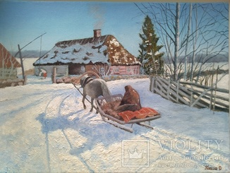 Зимнее утро на хуторе.