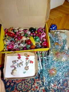Елочные игрушки + елка сборная СССР