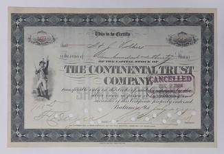 США акция трастовой компании Континетал 1903 год