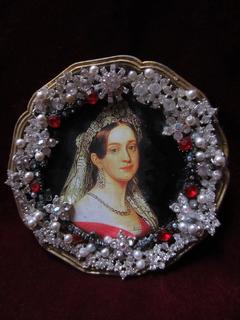 Портретная миниатюра королева Греции Амалия Ольденбургская (1818-1875)