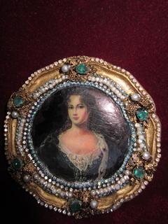 Портретная миниатюра Королева Пруссии София Луиза Мекленбург-Шверинская (1685-1735)