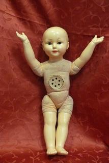 Большая(55 см) паричковая кукла из пресс-опилок или папье маше с мягконабивным туловищем
