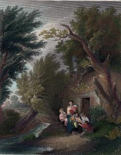 Старинная цветная гравюра. 1850 годa. Издательство Пейна. (27х20,5см.).