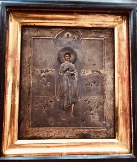 Икона Иоан Предтеча, 84, позолота
