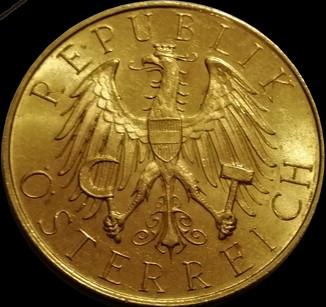 25 шилінгів 1929 року, Австрійська республіка, UNC