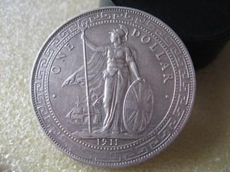 Великобритания Торговый доллар 1911г. Оригинал.