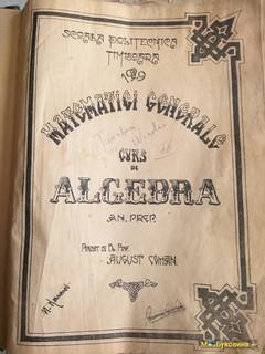 Старинная Литература Школьная алгебра на румынском.1929 года.