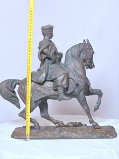 Скульптура Jan III Sobieski na koniu подпись «Vienne 1683»