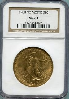 20 Долларов 1908г. США